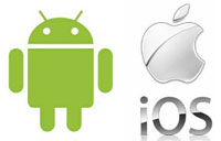 android iOS logo
