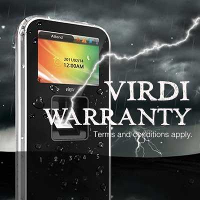 Virdi warranty
